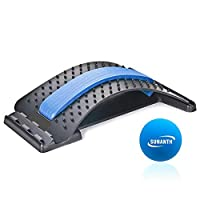 SUNANTH Back Stretcher, Lumbar Stretching Device with 3Adjustable Settings for Upper and Lower Back Pain Relief, Spinal Pain Relieve,Herniated Disc, Spinal Stenosis
