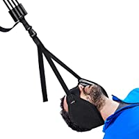 VOKKA Neck Traction Hammock for Neck Pain Relief, Head Hammock with Durable Elastic Safety Cords & Adjustable Straps, Cervical Traction Device/Stretcher for Muscle Relaxation & Physical Therapy