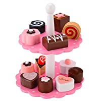 Wooden Dessert Play Set for Kids, Pretend Play Food Sets for Birthday Party ,Great for 3, 4, 5, and 6 Year Olds Girls and Boys