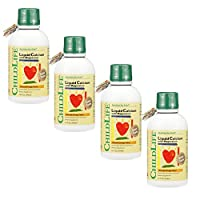 ChildLife Essentials Liquid Calcium with Magnesium for Infants, Babys, Kids, Toddlers, Children, and Teens Orange Flavored Dietary Supplement, 16 oz (Pack of 4)