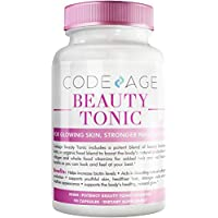 Codeage Beauty Boost Biotin Capsule Supplement - 1500mcg of Biotin per Serving, Astaxanthin, Vegan Collagen Food Blend for Hair Skin Nail Support, Boost Collagen Synthesis, Gluten-Free, 90 Capsules