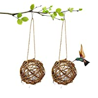COYMOS Hummingbird Nesting, Globe Hummingbird House with Cotton for Nesting (2 Pack)