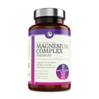 Nobi Nutrition High Absorption Magnesium Complex - Premium Mag Supplement for Sleep, Leg Cramps, Muscle Relaxation & Recovery - for Women & Men - Pure, Gluten-Free Pills - 60 Vegan Capsules