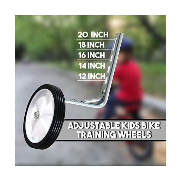 moli dee Training Wheels 18 Thicken Bike Training Wheels for Kids Under 100lb with Heavy Duty Stainless Steel for 14 16 20 Inch