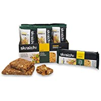 SKRATCH LABS Anytime Energy Bar, Ginger and Miso, (12 pack single serving) Natural, Low Sugar, Gluten Free, Vegan, Kosher, Dairy Free
