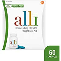 alli Weight Loss Diet Pills, Orlistat 60 mg Capsules, 60 Count Starter Pack