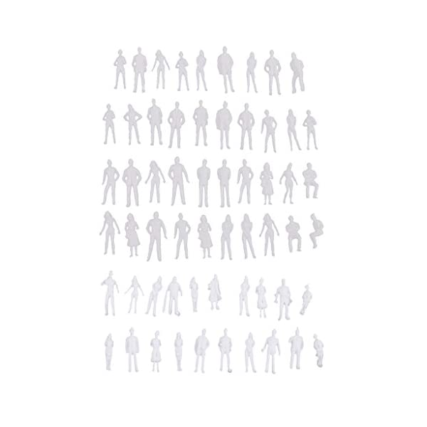 Homyl 20pcs 1//50 scale model white figures//people for train layout