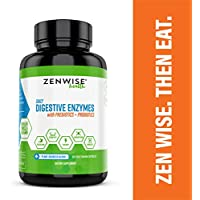 Digestive Enzymes Plus Prebiotics & Probiotics - Natural Lactase Support for Better Digestion & Lactose Absorption - For Bloating, Constipation, Leaky Gut, IBS & Gas Relief - 60 Vegetarian Capsules