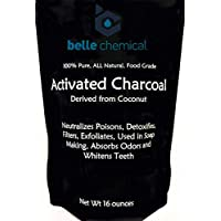 (1LB) Organic Coconut Activated Charcoal Powder - Food Grade, Kosher - Teeth Whitening, Facial Scrub, Soap Making (1 Ounce to 5 pounds (1 Pound)