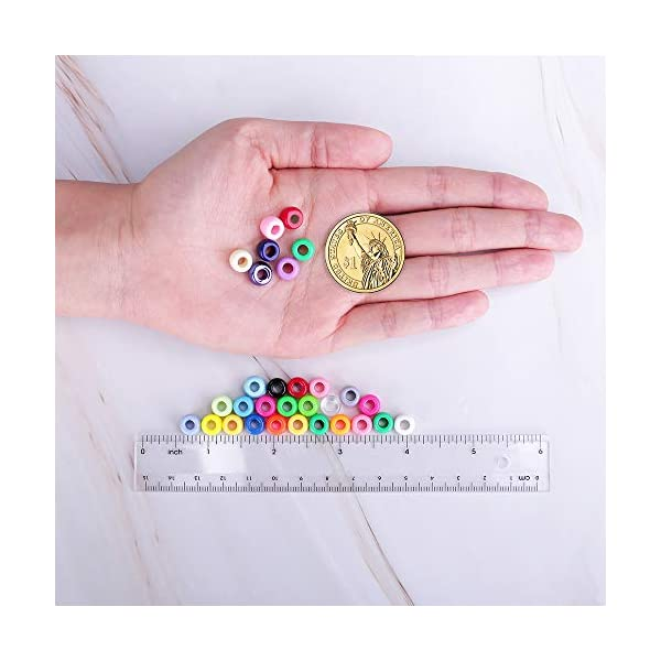Efivs Arts Giant Crayon Bead Box,24 Color Pony Beads Big Spcaer Beads for for DIY Jewelry Making Approximately 1500pcs 6 x 9 mm