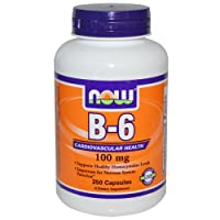 Now Foods Vitamin B-6 250 Capsules/100mg