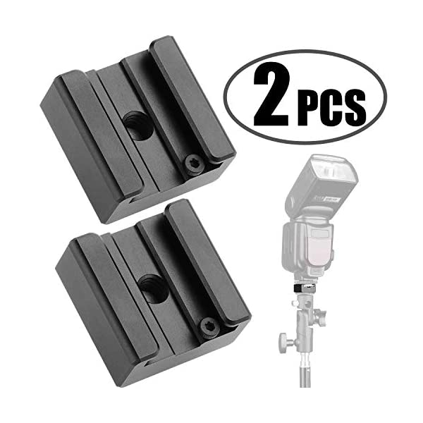 2 Pack Desmond Metal Cold Shoe Flash Adapter w 1//4 Mounting Hole