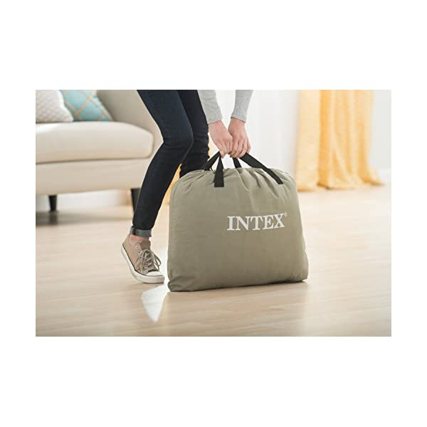 Intex Dura-Beam Standard Series Deluxe Pillow Rest Raised Airbed w//Soft Flocked Top for Comfort