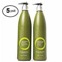 Shampoo and Conditioner for Color Treated Hair - Sulfate Free Formula Infused with Biotin & Vitamin C Is Safe for All Hair Types - Repair Split Ends While Gently Cleansing - 13.5oz (5 Pack)