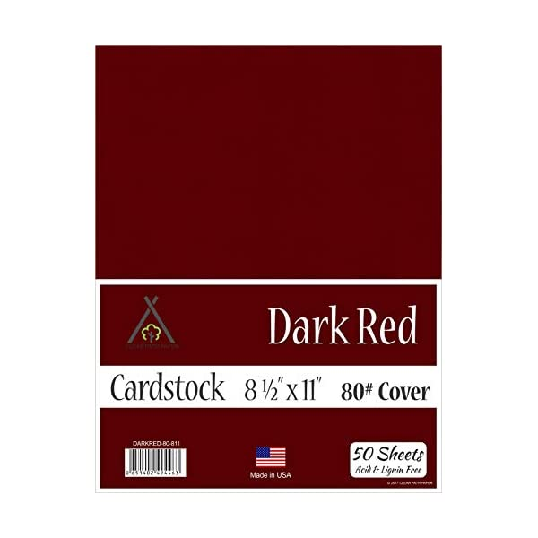 Cherry Red Cardstock 65Lb Cover 50 Sheets 8.5 x 11 inch
