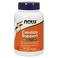 NOW Supplements, Candida Support with Pau D'Arco, Oregano Oil, Black Walnut & Caprylic Acid, 90 Veg Capsules