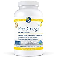 Nordic Naturals Pro - ProOmega, Promotes Brain and Heart Health, and Supports Healthy Eyes - Lemon Flavored 180 Soft Gels