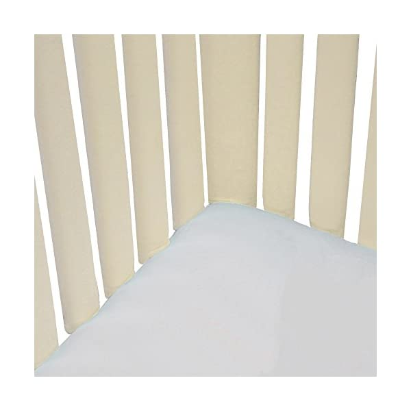 Go Mama Go 2 Piece Pure Safety Vertical Crib Liners Cream Minky
