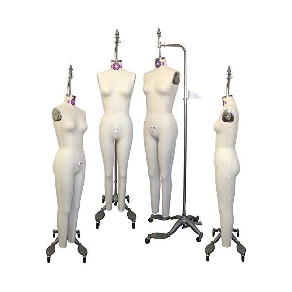 Female Full Body Professional Dress Form Size 4 Collapsible Shoulders W// Two Removable Arms Deluxe Series Mannequin