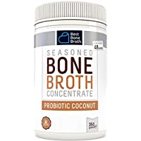 BONE BROTH Premium Beef Bone Broth Concentrate Coconut Flavor - Maximized Nutrition Bone Broth On The Go - No Hormones or Additives, Delicious Natural Flavor, Sourced From AU & NZ Beef - Beef Broth
