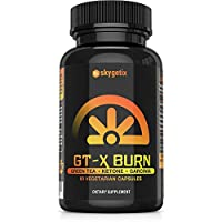 GT-X Burn Thermogenic Fat Burner - Stimulant Weight Loss Diet Pills That Work Fast for Men and Women: Energy Booster, Appetite Suppressant - Premium Green Tea Extract Supplement - 60 Veggie Diet Pills