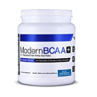 Modern BCAA+ Essential Amino Acid (EAA) Branched Chain Amino Acid (BCAA) Muscle Recovery Supplement Powder Drink Mix - 30 Servings (Blue Raspberry)