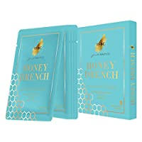 Fast Beauty Co. Honey Drench 5Piece Box Hydrating Gold Honey Comb Masks With Hyaluronic & Collagen