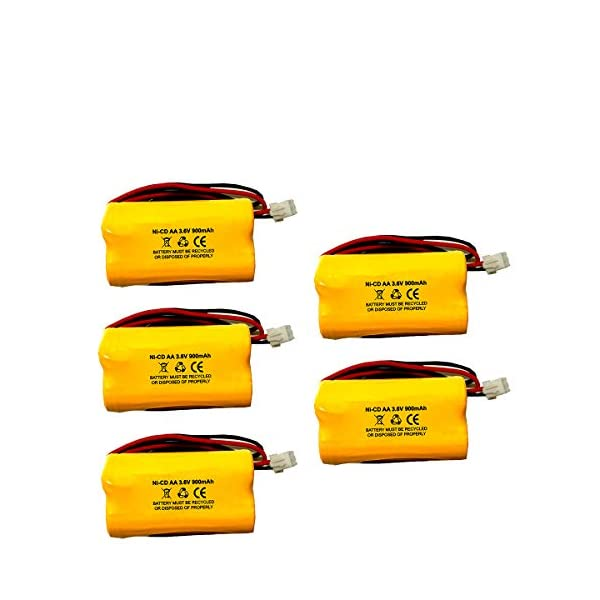 Teig T26000186 3.6v 900mAh 026-186 Battery All Pro 026186 Cooper APEL Battery APLEL Ni-CD Battery Pack Replacement for Emergency//Exit Light 5 Pack