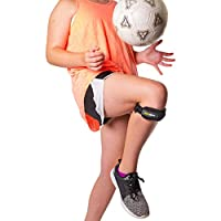 BraceAbility Kids Knee Band | Child Osgood Schlatter Strap for Jumpers Knee, Patella Tendonitis, Youth Sports Brace with Pad for Running, Soccer, Volleyball & Basketball (XS)