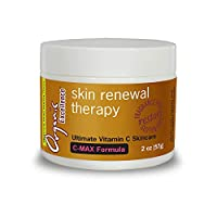 Organic Excellence Skin Renewal Therapy With Vitamin C to Stimulate Collagen Production and Increase Skin Cell Renewal, Face & Neck Moisturizing Cream For Dry or Mature Skin