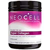 NeoCell Super Collagen Powder, 19oz, Non-GMO, Grass Fed, Paleo Friendly, Gluten Free, Collagen Peptides Types 1 & 3 for Hair, Skin, Nails and Joints (Packaging May Vary), 82 Servings