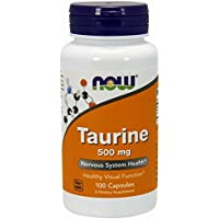 NOW Supplements, Taurine 500 mg, Nervous System Health*, Amino Acid, 100 Capsules
