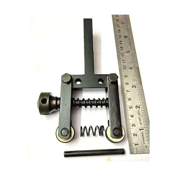 "Spring Loaded Clamp Type Knurling Tool 2/"" Capacity for Lathes 2 Spare Knurls"