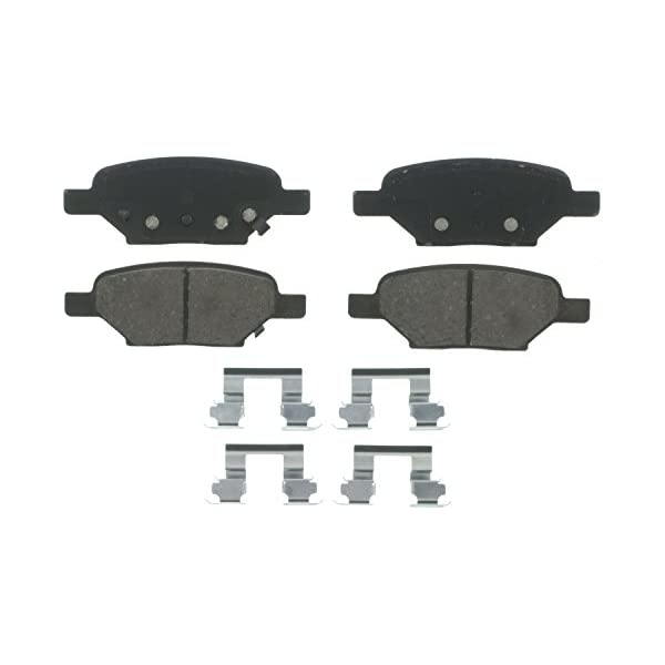Rear Wagner QuickStop ZD1033A Ceramic Disc Pad Set Includes Pad Installation Hardware