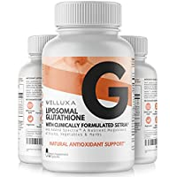 Liposomal Glutathione (600 mg) - Setria Reduced Glutathione Capsules for Skin Whitening Antioxidant Support Liver Health Immunity & Detox - Glutathione Supplement - L-Glutathione Pills (60 ct)