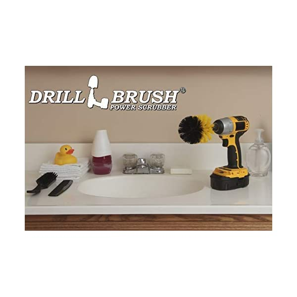 Toilet Shower Curtain Bidet Flooring Bath Mat Sink Shower Bathroom Cleaner Drillbrush Ultimate Grout Cleaning Kit with Long Reach Extension Bathtub Drill Brush Tile and Grout Cleaner