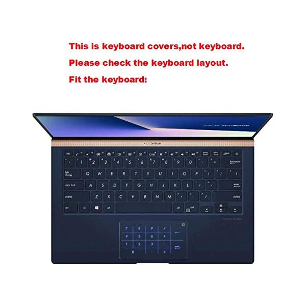 Laptop High Clear Transparent Tpu Keyboard Cover Protectors for New ASUS ZenBook UX433FA UX433F 14