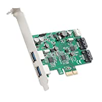 Syba 2 Port USB 3.0 and 2 Port SATA III PCIe 2.0 X 1 Card VLI/ASMedia Chipsets Components Other SD-PEX50063