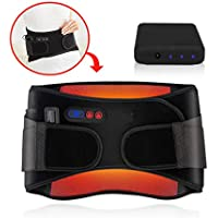 Heated Waist Brace Belt Wireless Rechargeable Battery Far Infrared Heating Wrap Lower Back Massage Pad for Abdominal Stomach Cramps Arthritic Menstrual Therapy Pain Relief for Lumbar Support