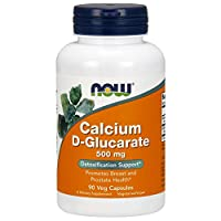 NOW Supplements, Calcium D-Glucarate 500 mg, Detoxification Support*, 90 Veg Capsules