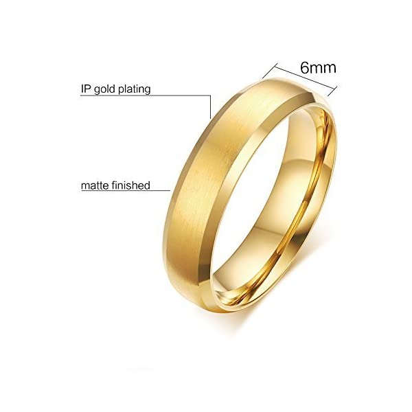 Anka 2mm Womens Tungsten Carbide Plain Band Engagement Wedding Ring,Gold Plated,Size 6-11