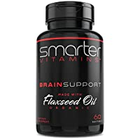 Brain Support Nootropic Supplement, Brain Booster & Memory Support, Made with Alpha-GPC, L-Tyrosine & Acetyl L-Carnitine ALCAR, Organic Flaxseed Oil, ALA DHA Brain Booster 60 Softgel Energy Pills