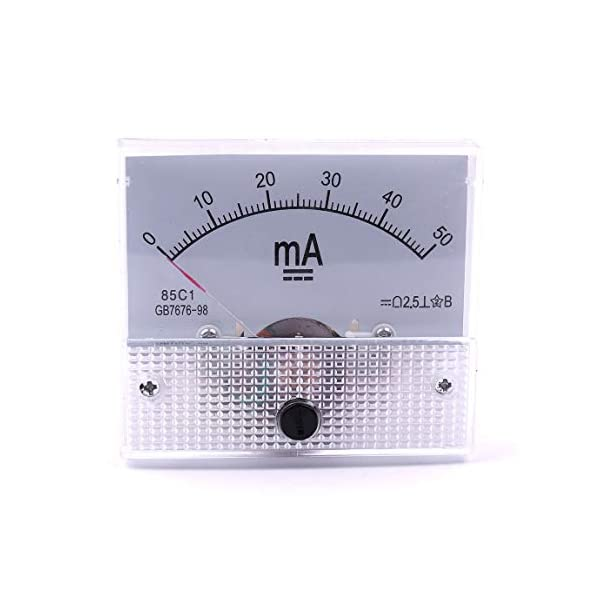 uxcell 91C4-A Analog Current Panel Meter DC 3A Ammeter for Circuit Testing Ampere Tester Gauge 1 PCS