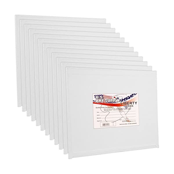 8x10 Primed Canvas Panel Boards Artlicious 30 Classroom Value Pack