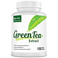 Bel-Air Green Tea Extract Supplement with standardized 50% EGCG, 80% Catechins & 98% Polyphenols