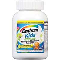 Centrum Kids Multivitamin/Multimineral Supplement (Cherry, Orange, & Fruit Punch Flavor, 80-Count Chewables)