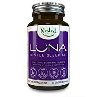 Luna | #1 Sleep Aid on Amazon | Naturally Sourced Ingredients | 60 Non-Habit Forming Vegan Capsules | Herbal Supplement with Melatonin, Valerian Root, Chamomile | Sleeping Pills for Adults