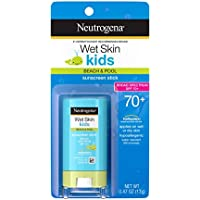 Neutrogena Wet Skin Kids Water Resistant Sunscreen Stick for Face and Body, Broad Spectrum SPF 70, 0.47 oz ( Pack of 2)
