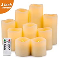 Yutime Flameless Candle Set of 9 (D 3