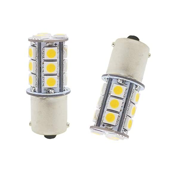 5050 18 SMD Car Replacement For Interior RV Camper Turn Signal Light Lamps Tail BackUp Bulbs AMAZENAR 12-Pack 1156 BA15S 1156NA 7506 1141 1003 1073 White LED Light 12V-DC